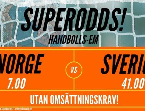 Superodds (19/1): Norge-Sverige