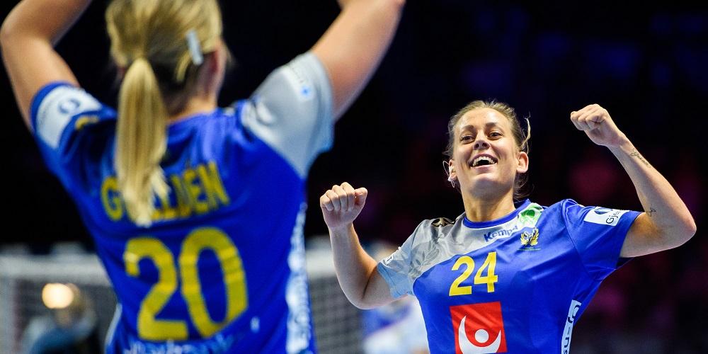 Svenska damerna firar