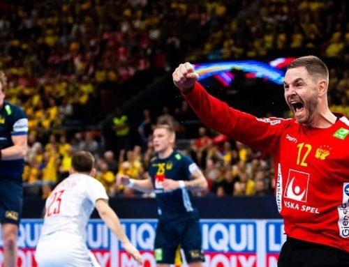 Glädjen: Andreas Palicka fortsätter i landslaget – siktar mot EM