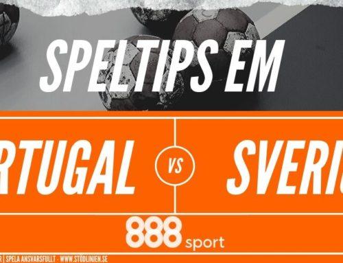 SPELTIPS: Portugal – Sverige 17/1