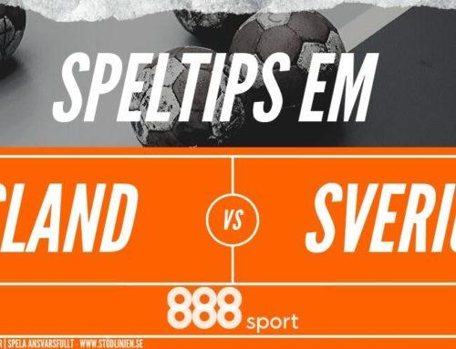 Speltips: Island – Sverige 22/1