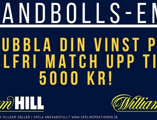 William Hill – Dubbla din vinst upp till 5000 kr!
