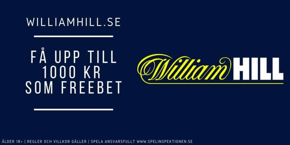 Williamhill-välkomstbonus