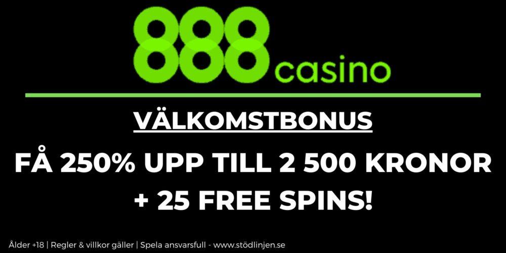 888 Casino välkomstbonus