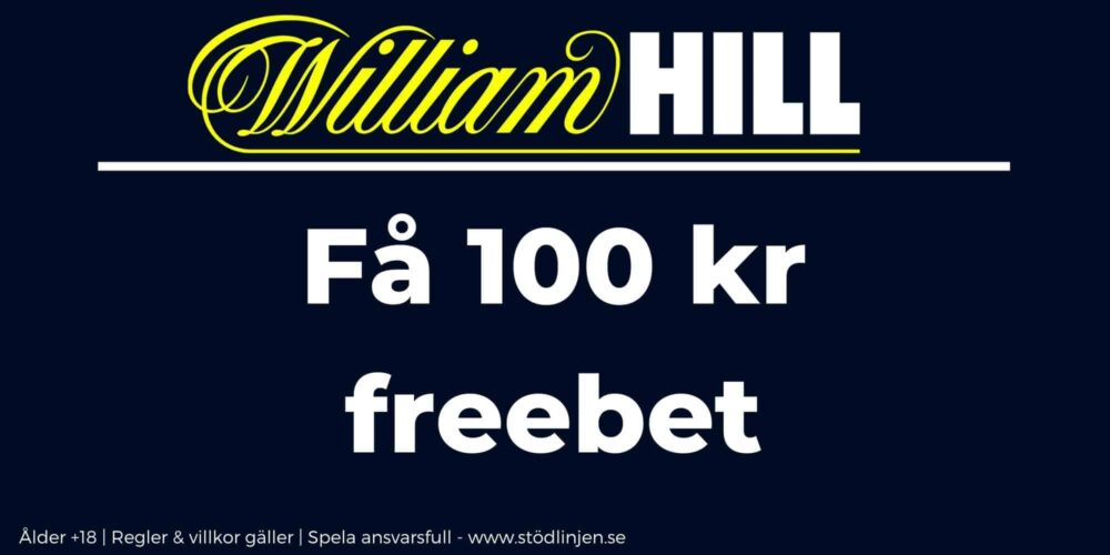 William Hill välkomstbonus